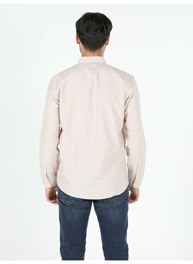 Colin's Regular Fit Shirt Neck Erkek Bej Uzun Kol Gömlek Bej